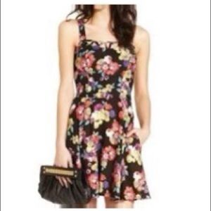 Material girl floral cut out detail mini dress